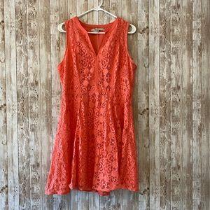 Peach Lauren Conrad Lace Dress